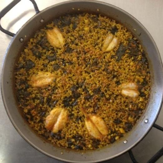 308 Paella de mollets i espinacs